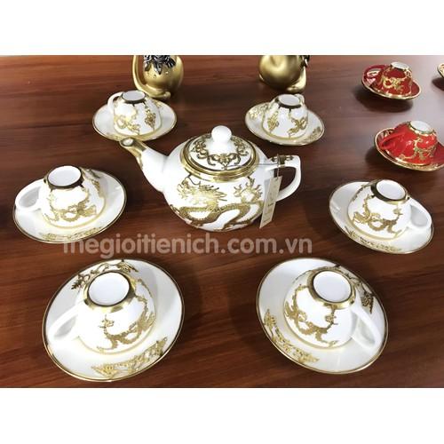 Bộ ấm chén uống trà bọc rồng màu trắng - 5653076 , 12087377 , 15_12087377 , 1550000 , Bo-am-chen-uong-tra-boc-rong-mau-trang-15_12087377 , sendo.vn , Bộ ấm chén uống trà bọc rồng màu trắng