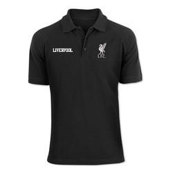 Áo Phông Cổ Bẻ Màu Đen Liverpool
