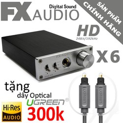 FX-AUDIO X6 - DAC NGHE NHẠC LOSSLESS 2019 Tặng Optical Ugreen 300k