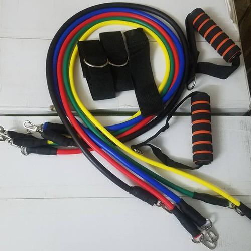 Bộ tập gym 5 dây ngũ sắc - 4500373 , 12095469 , 15_12095469 , 195000 , Bo-tap-gym-5-day-ngu-sac-15_12095469 , sendo.vn , Bộ tập gym 5 dây ngũ sắc