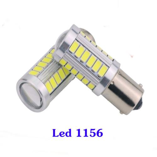 Bộ 02 bóng đèn  Ô tô xe máy Led 33SMD  chân 1156  ánh sáng trắng