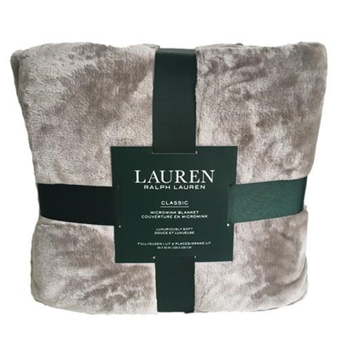 Chăn Ralph Lauren Queen Size, Grey