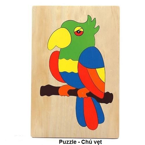 Tranh ghép 23 loài động vật | Puzzle Animal 16x24cm 59k|tranh|con