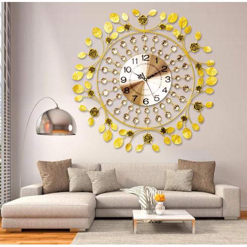 Đồng hồ treo tường phong cách châu âu gold leaves - best seller tony