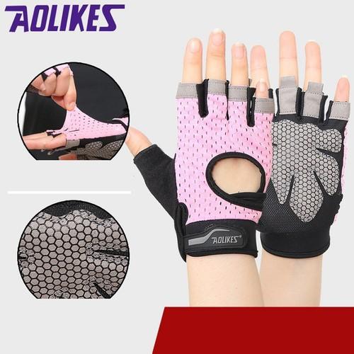 Găng tay tập gym cao cấp có quấn cổ tay AOLIKES