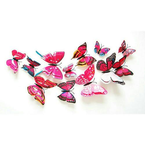 2 bộ 12 chú bướm 3D lung linh sắc màu - 5672582 , 12112321 , 15_12112321 , 99000 , 2-bo-12-chu-buom-3D-lung-linh-sac-mau-15_12112321 , sendo.vn , 2 bộ 12 chú bướm 3D lung linh sắc màu