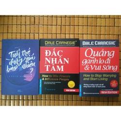 Combo 3 Cuốn Kỹ Năng Hay Nhất Tuổi Trẻ - Đắc Nhân Tâm - Quẳng Gánh Lo
