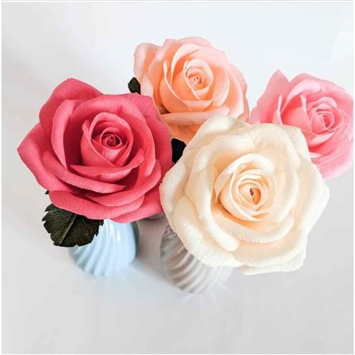 Hoa giấy handmade- Hồng-đặt từ 5 bông trở lên