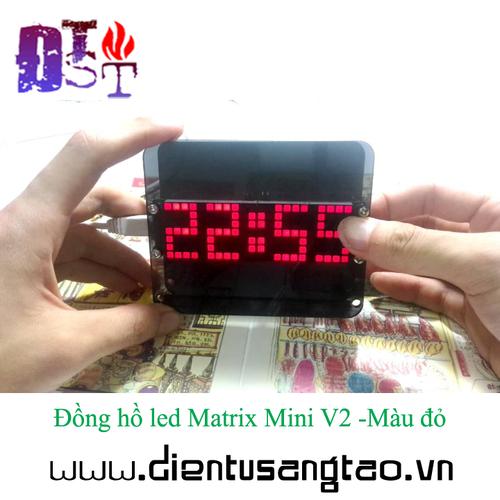 Đồng hồ led Matrix Mini V2 -Màu đỏ