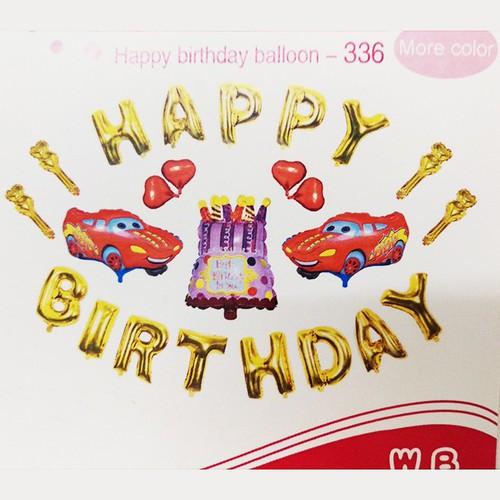 Bộ 24 bóng bay chữ Happy Birthday +chi tiết, bóng bay sinh nhật -M336