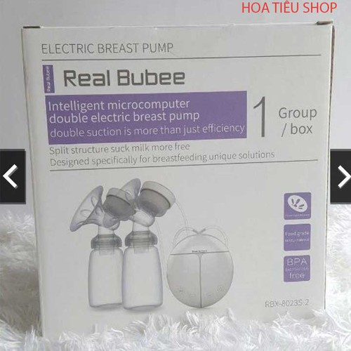 Con khỏe, dáng mẹ đẹp nhờ Máy vắt sữa điện đôi Real Bubee