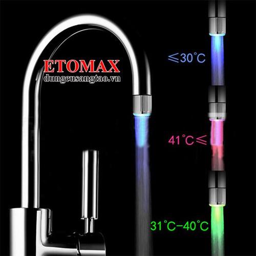 Đầu vòi nước phát sáng cảm biến theo nhiệt độ