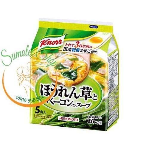 Soup Miso Knorr ăn liền vị Thịt trứng Rau Bina