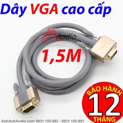 Cáp VGA Choseal 1,5 M cao cấp|Dây VGA|cáp Hình PC|VGA