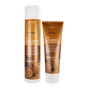Combo dầu gội và kem ủ cho tóc nhuộm nâu Lakme