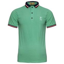 Áo thun nam Polo cổ phối logo Đẹp cực chất AHT09 - 7 - xanh đốm két
