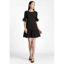 De Leah - Đầm Suông Đuôi Cá Tay Nơ - Thời trang thiết kế