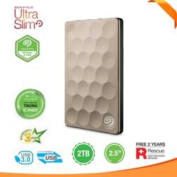 Seagate Backup Plus Ultra Slim Portable Drive 2TB Gold STEH2000301
