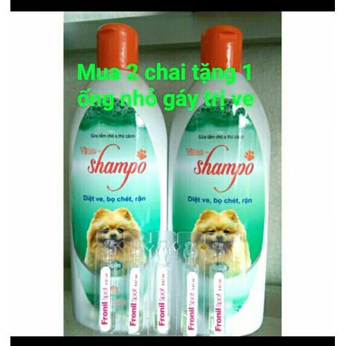 Sữa tắm chó mượt lông phòng ngừa ve_giá 1 chai