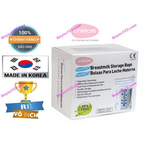 Hộp 60 túi trữ sữa mẹ không BPA 210ml UNIMOM COMPACT UM870268 [Made in - 11431734 , 12166294 , 15_12166294 , 127000 , Hop-60-tui-tru-sua-me-khong-BPA-210ml-UNIMOM-COMPACT-UM870268-Made-in-15_12166294 , sendo.vn , Hộp 60 túi trữ sữa mẹ không BPA 210ml UNIMOM COMPACT UM870268 [Made in