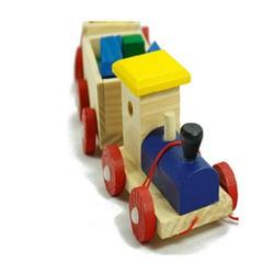 Xe lửa đồ chơi bằng bằng gỗ cho bé
