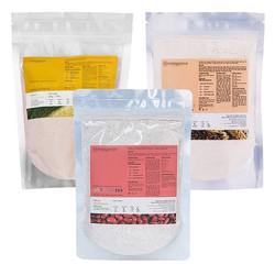 Bộ 3 bột dưỡng Milaganics: Bột Cám Gạo+Bột Yến Mạch+ Bột Đậu Đỏ 200g