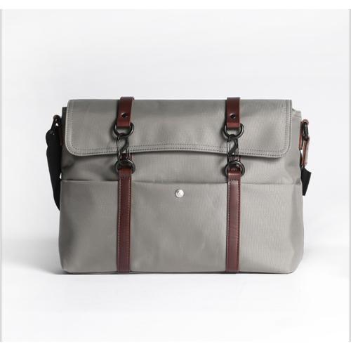 Túi xách balo da đeo chéo phong cách EU cao cấp đựng laptop 15inch