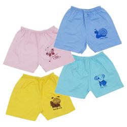 Quần áo trẻ em, Combo 5 Quần Đùi Sơ Sinh Cotton Màu Thái Hà Thịnh