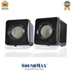 Loa vi tính Sound max A-120 2.0 6W RMS Đen – Hàng chính hãng