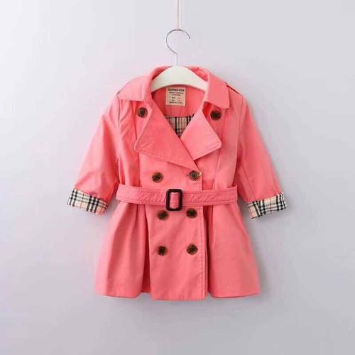 áo khoác hồng dạng dài 3-4 11-12