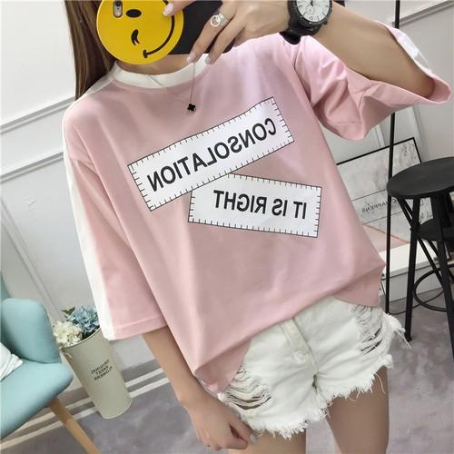 áo thun kiểu nữ dáng đẹp màu hồng