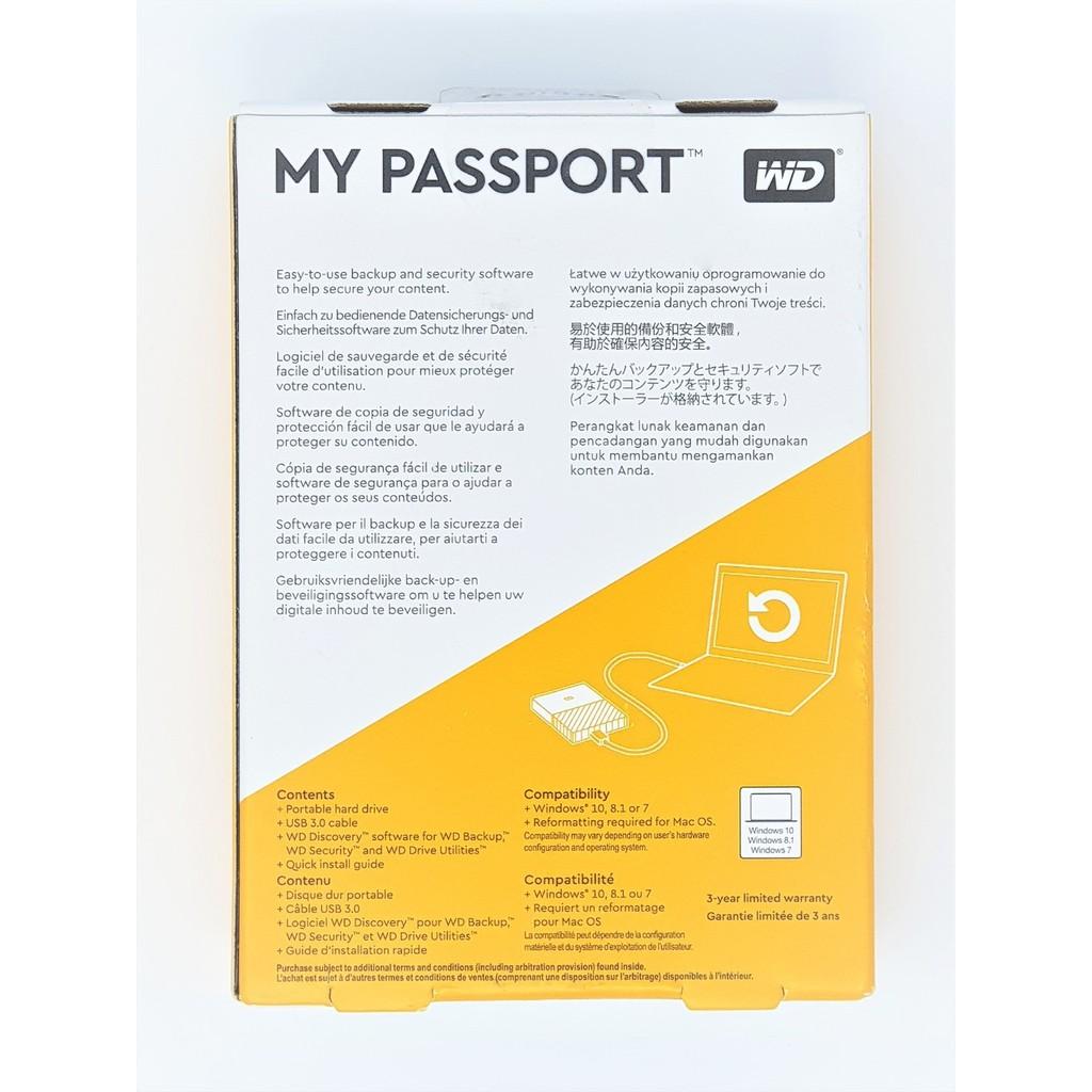 Ổ cứng di động HDD Western Digital WD My Passport 2TB Hàng Mỹ