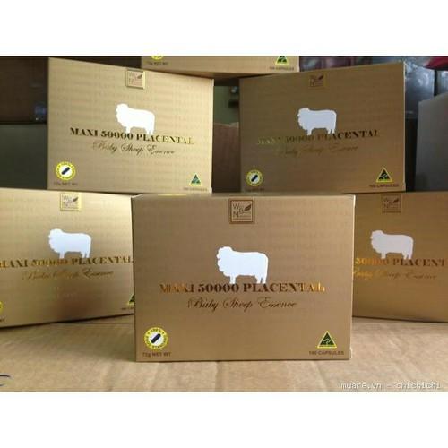xả kho Hộp 100 Viên uống nhau thai cừu Maxi Sheep Placenta 50000mg
