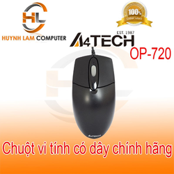 Chuột máy tính có dây A4TECH 720 chính hãng Viscom phân phối