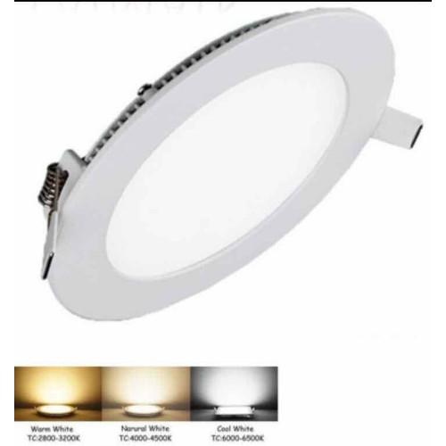 Đèn LED Panel âm trần thạch cao 6W tròn 3 chế độ