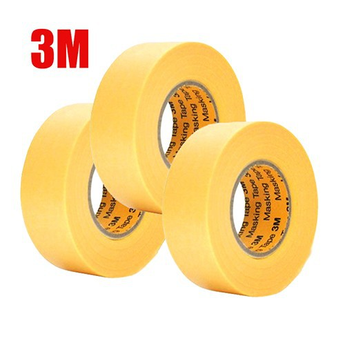 Bộ 3 cuộn Băng keo 3MMasking Tape 243J Plus 10mmx18m màu vàng