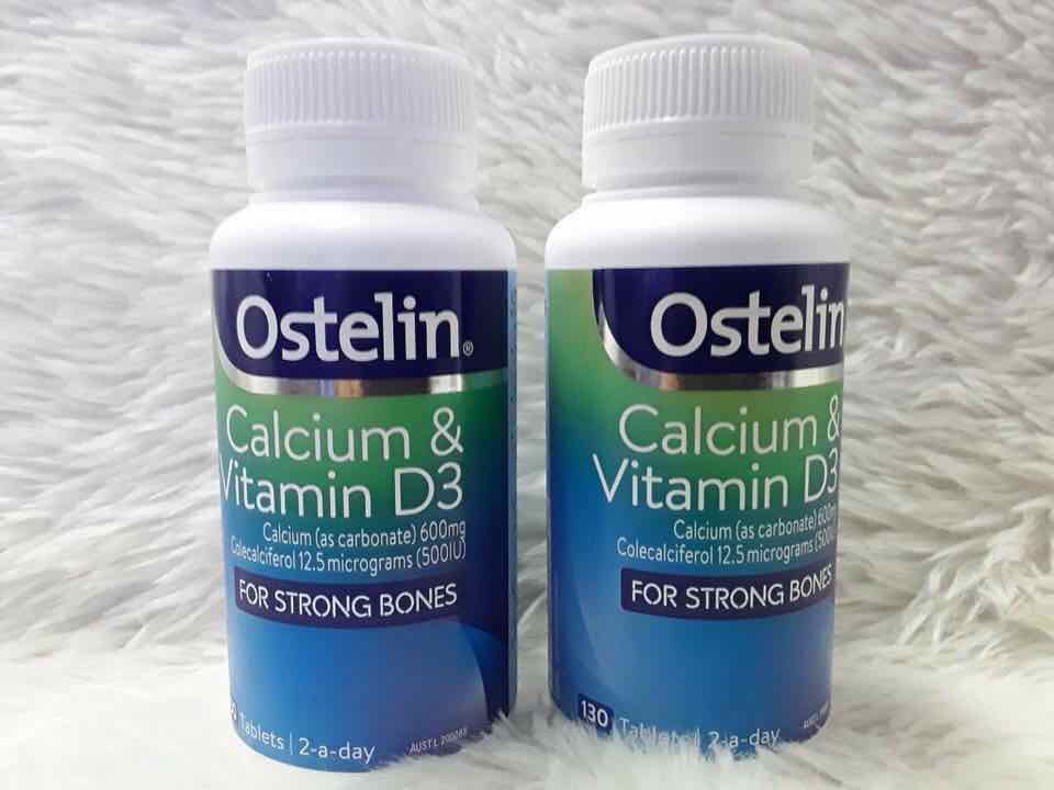Ostelin Calcium bổ sung canxi cho bà bầu - 130 viên - CanxiOstelin