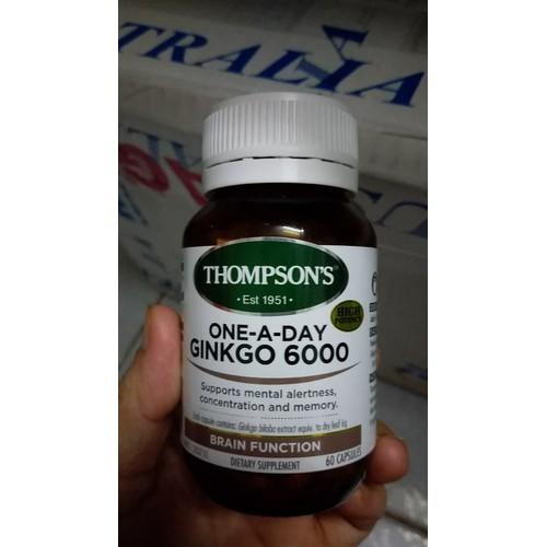 Hoạt huyết dưỡng não Ginkgo Biloba  6000mg Thompson