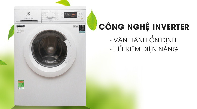 Thông số kỹ thuật Máy giặt Electrolux Inverter 7.5 Kg EWF7525DGWA