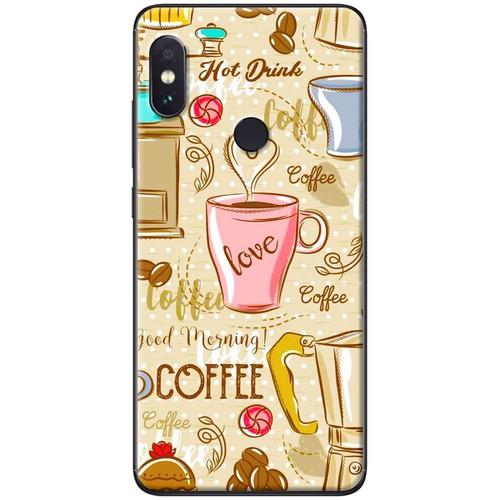 Ốp lưng nhựa dẻo Xiaomi Mi 8 Love coffee