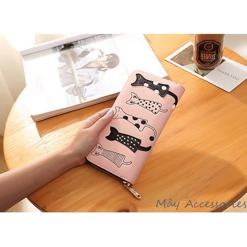 Ví tiền dài hình mèo khóa kéo thời trang cá tính màu hồng - 6224682 , 12787855 , 15_12787855 , 169000 , Vi-tien-dai-hinh-meo-khoa-keo-thoi-trang-ca-tinh-mau-hong-15_12787855 , sendo.vn , Ví tiền dài hình mèo khóa kéo thời trang cá tính màu hồng