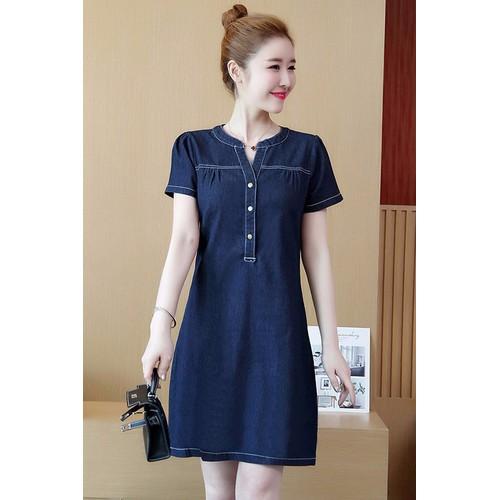 Đầm Jean Suông Tay Ngắn M, L, XL-