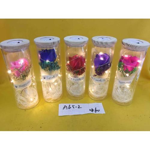 Hoa khô đèn led quà tặng lưu niệm