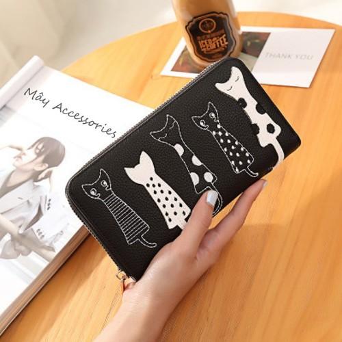 Ví tiền dài hình mèo khóa kéo thời trang cá tính màu đen - 6224666 , 12787819 , 15_12787819 , 169000 , Vi-tien-dai-hinh-meo-khoa-keo-thoi-trang-ca-tinh-mau-den-15_12787819 , sendo.vn , Ví tiền dài hình mèo khóa kéo thời trang cá tính màu đen