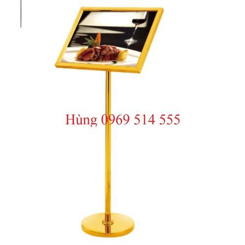 Biển menu inox vàng B14-A4
