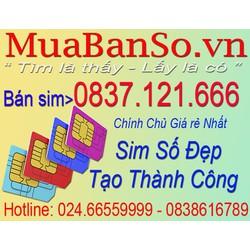 Sim điện thoai 0837121666