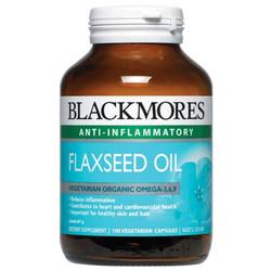 Dầu hạt lanh Blackmores Flaxseed Oil 1000mg 100 viên - BM_Flax
