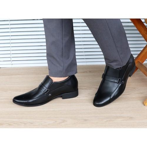 Giày tăng chiều cao nam da thật TT20 đen, cao 6cm