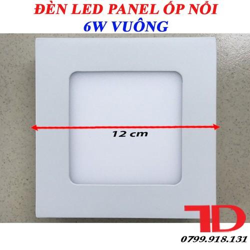 Đèn LED Panel Ốp Nổi Vuông 6W Trắng