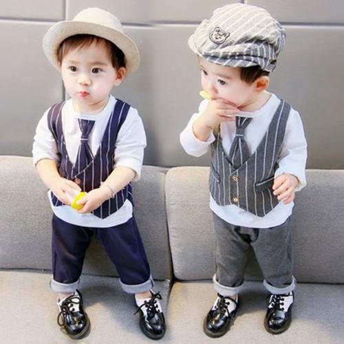 Bộ quần áo cho bé trai kiểu dáng công tử đáng yêu và lịch lãm